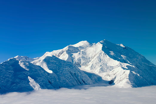 aerial view of Denali (formerly Mount McKinley), Alaska