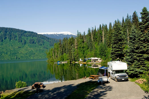 rv park near Alaska lake